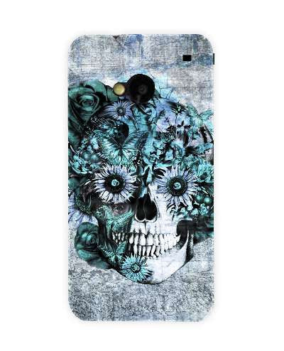 Blue Grunge Ohm Skull SNOOGG-HTC-ONE-case-cover-by--Kristy Patterson