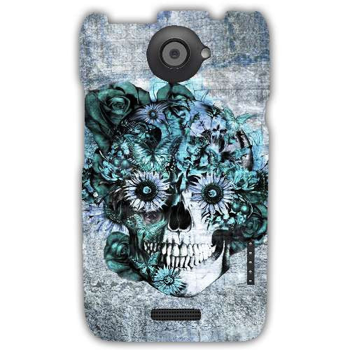Blue Grunge Ohm Skull SNOOGG-Htc_One_X+_X+-case-cover-by--Kristy Patterson