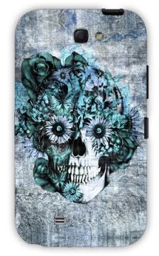 Blue Grunge Ohm Skull SNOOGG Samsung Note 2 Case Cover By Kristy Patterson