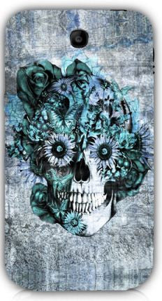 Blue Grunge Ohm Skull SNOOGG Samsung Note 3 Case Cover By Kristy Patterson
