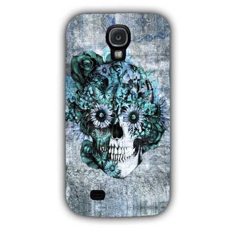 Blue Grunge Ohm Skull SNOOGG Samsung S4 Case Cover By Kristy Patterson