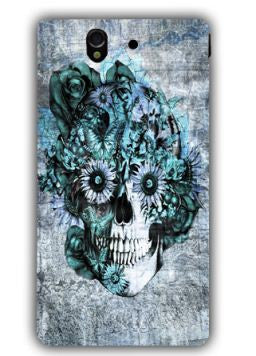 Blue Grunge Ohm Skull SNOOGG Sony L 36 Case Cover By Kristy Patterson