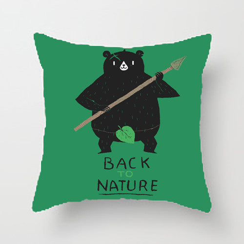 back to nature throw pillow by Louis Roskosch