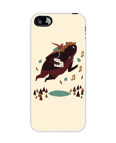 bear and bird-Iphone4-case-cover-By-Louis-Roskosch