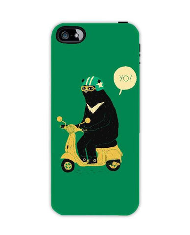 scooter bear-Iphone4-case-cover-By-Louis-Roskosch