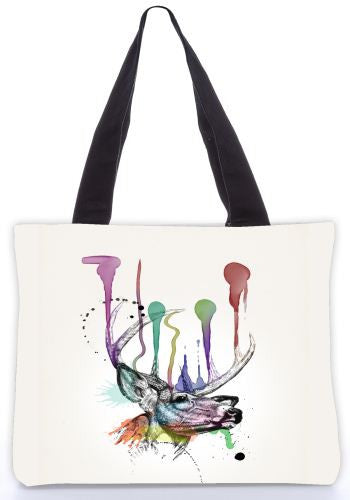 Snoogg  7pointbuck Graphic Design by : Mark Ashkenzi Poly Canvas Tote Bag