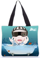 Snoogg  Underwaters Graphic Design by : Mark Ashkenzi Poly Canvas Tote Bag