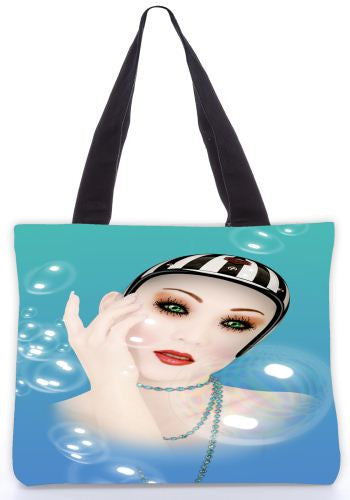 Snoogg  Dreaming Lady Graphic Design by : Mark Ashkenzi Poly Canvas Tote Bag