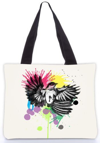 Snoogg  colourful bird Graphic Design by : Mark Ashkenzi Poly Canvas Tote Bag