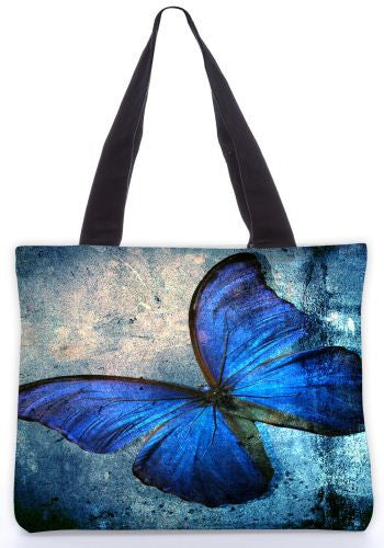 Snoogg  Blue butterfly Graphic Design by : Mark Ashkenzi Poly Canvas Tote Bag