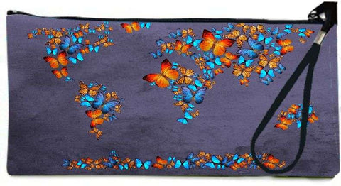 Snoogg map 3  Wallet Clutch Pouch  By Mark Ashkenazi