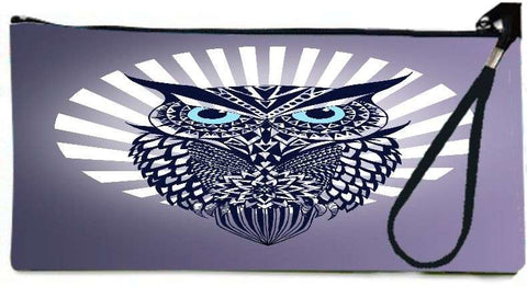 Snoogg Owl  Wallet Clutch Pouch  By Mark Ashkenazi