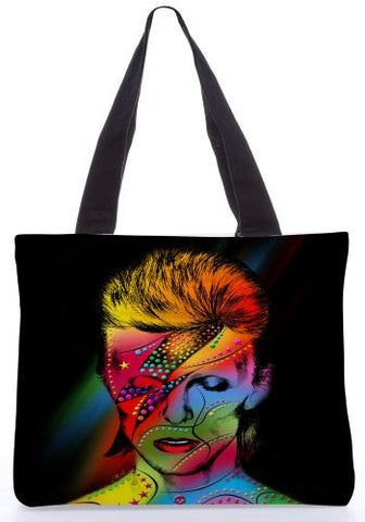 Snoogg  David Bowie Graphic Design by : Mark Ashkenzi Poly Canvas Tote Bag