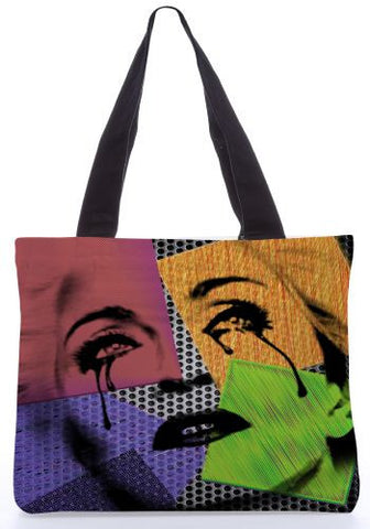 Snoogg  madona tony Graphic Design by : Mark Ashkenzi Poly Canvas Tote Bag