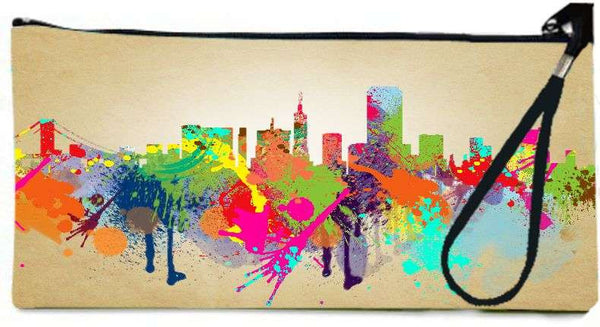 Snoogg sanfranciscocalifornia Wallet Clutch Pouch  By Mark Ashkenazi