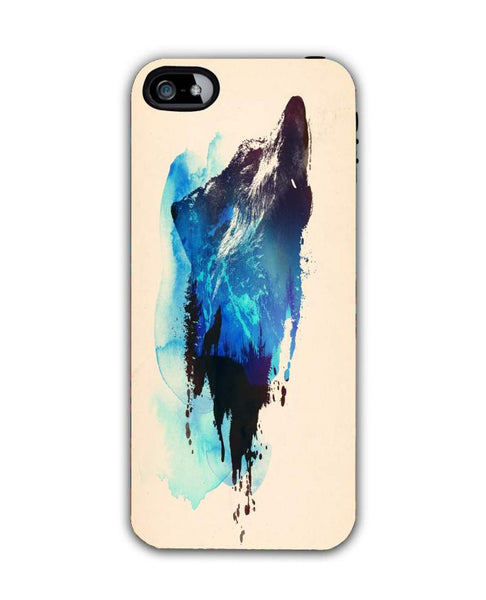 alone as a wolf-iphone4 Case Cover By Robert Farkas