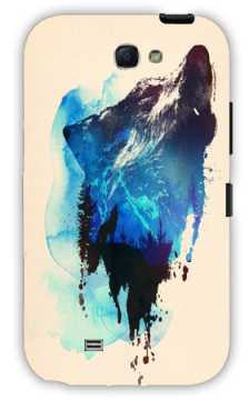 alone as a wolf-Samsung Note 2 Case Cover By Robert Farkas