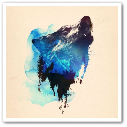 alone as a wolf Wall Art Print