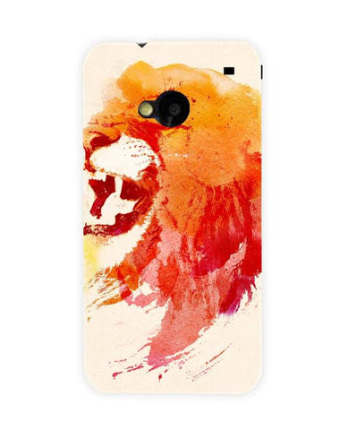 angry lion-HTC-ONE-case-cover-by-Robert Farkas