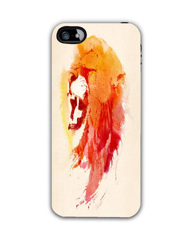 angry lion-iphone5c Case Cover By Robert Farkas