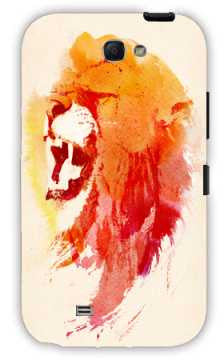 angry lion-Samsung Note 2 Case Cover By Robert Farkas
