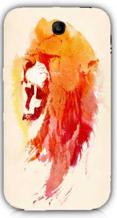 angry lion-Samsung Note 3 Case Cover By Robert Farkas