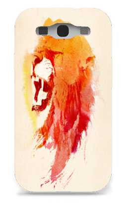 angry lion-Samsung S3 Case Cover By Robert Farkas