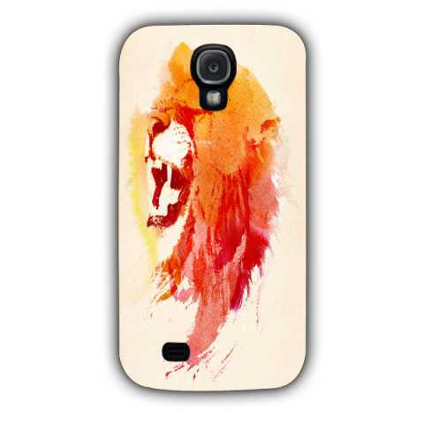 angry lion-Samsung S4 Case Cover By Robert Farkas