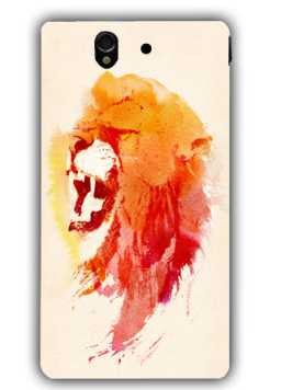 angry lion-Sony L36 Case Cover By Robert Farkas