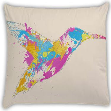 bird of colour Throw Pillows by Robert Farkas
