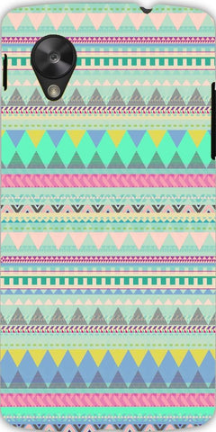 Snoogg  Aztec Patterns Light BlueCase Cover For Google Nexus 5