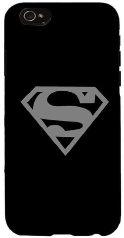 Snoogg  Superman Logo Grey Case Cover For Apple Iphone 6+