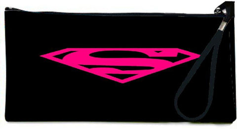 Snoogg  Superman Logo Hot Pink Wallet Clutch Pouch