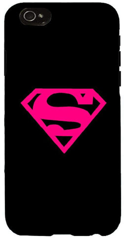 Snoogg  Superman Logo Hot Pink Case Cover For Apple Iphone 6+