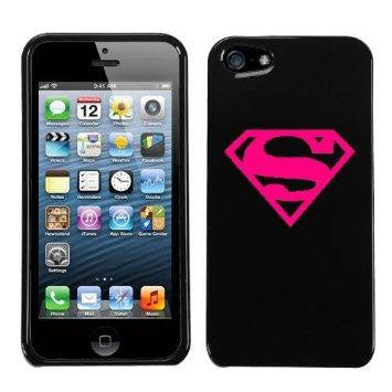Superman Logo Hot Pink iphone 4