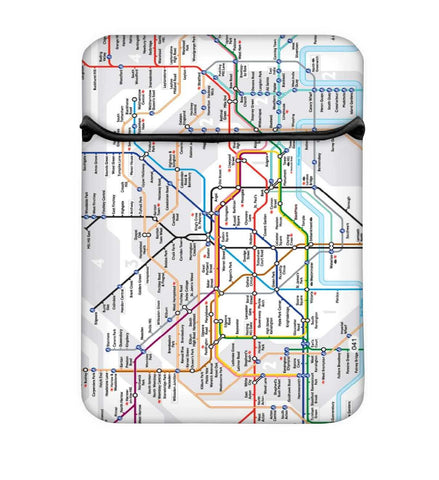 Snoogg London Tube Map Laptop Case Flip Sleeve Pouch Computer Cover