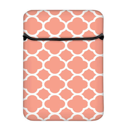 Snoogg Motif Print Pink Laptop Case Flip Sleeve Pouch Computer Cover