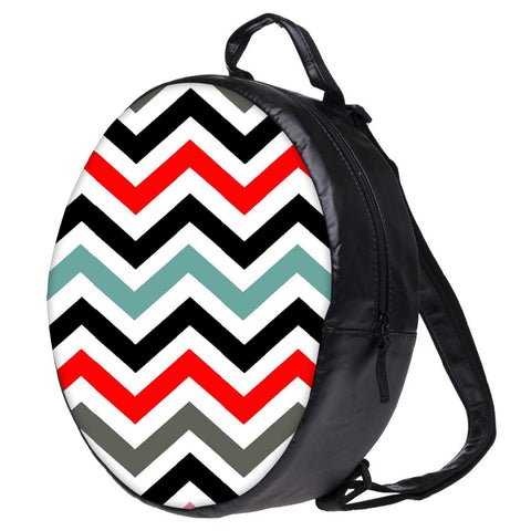 Snoogg Frequency Multicolour Bookbag Rounded Backpack Boys Girls Junior School Bag PE Shoulder Bag