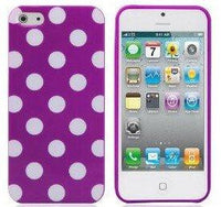Purple Polka Dot iphone 5