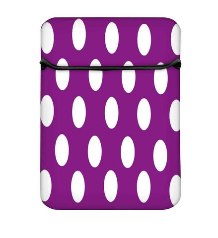 Snoogg Purple Polka Dot Laptop Case Flip Sleeve Pouch Computer Cover