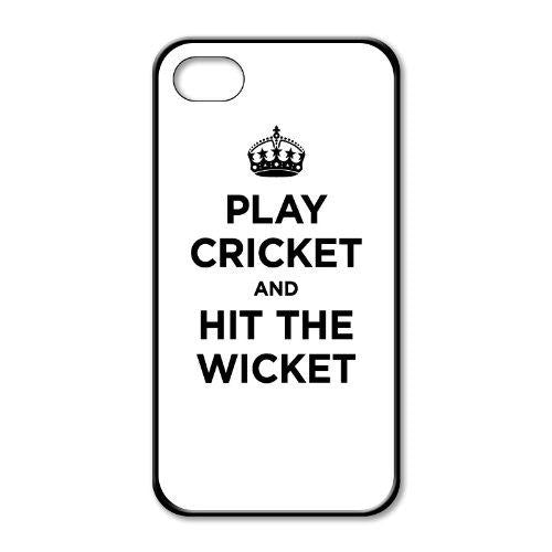 Play Cricket And Hit Wicket White iphone 5