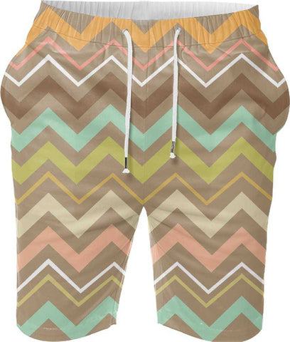 Snoogg Aztec Designs Digital Printed Mens Casual Beach Jogger Shorts With Pockets Boxer Style (Small)