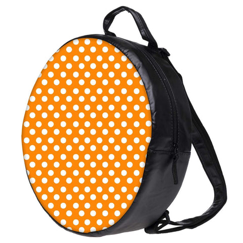 Snoogg Yellow Polka Dot Bookbag Rounded Backpack Boys Girls Junior School Bag PE Shoulder Bag