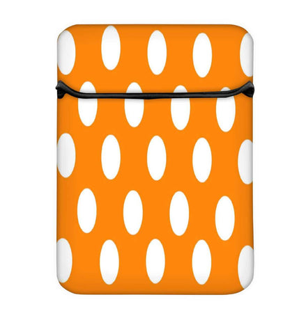 Snoogg Yellow Polka Dot Laptop Case Flip Sleeve Pouch Computer Cover