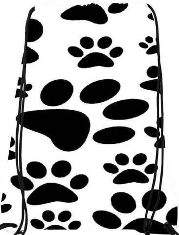 Snoogg  Dog Stamps Nylon Drawstring bacpack / sack bag