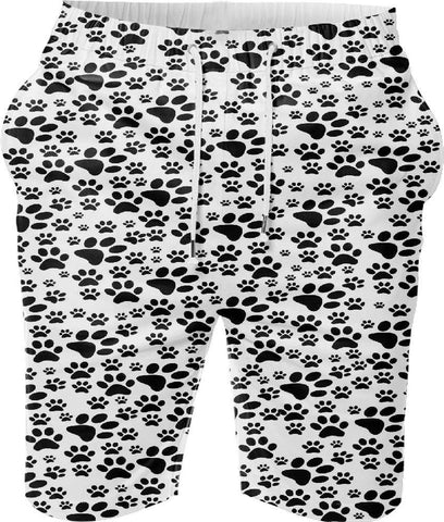 Snoogg Dog Stamps Digital Printed Mens Casual Beach Jogger Shorts With Pockets Boxer Style (Small)