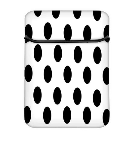 Snoogg White Polka Dot Laptop Case Flip Sleeve Pouch Computer Cover