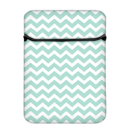 Snoogg Wave Print Soft Blue Laptop Case Flip Sleeve Pouch Computer Cover