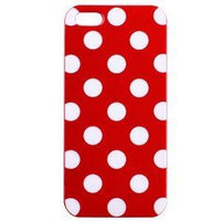 Red Polka Dot iphone 4
