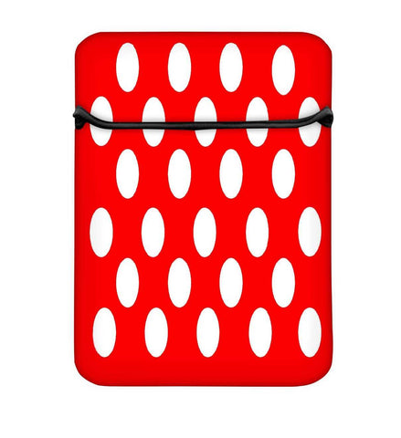 Snoogg Red Polka Dot Laptop Case Flip Sleeve Pouch Computer Cover